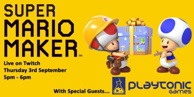 Super Mario Maker Live on Twitch