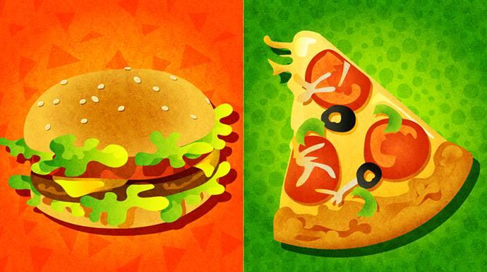 スプラトゥーン北米第8回フェス「ハンバーガー vs. ピザ」