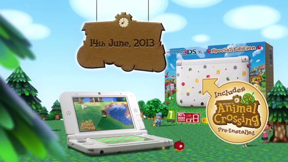 A special edition Nintendo 3DS XL with Animal Crossing: New Leaf