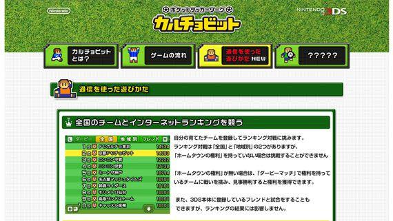 3DS ポケットサッカーリーグ カルチョビット 通信要素