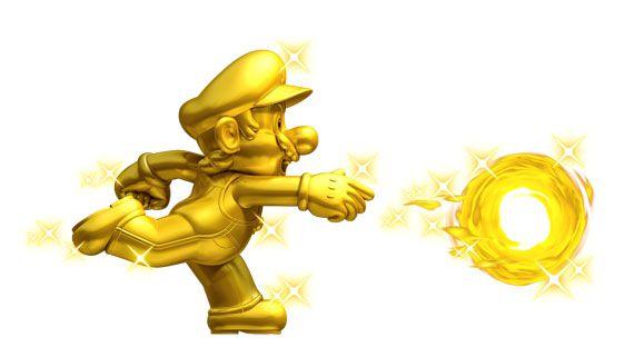 3DS New Super Mario Bros. 2 Gold Mario