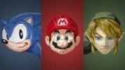 マリオやリンクなど、三角形だけで描かれたビデオゲームキャラクター