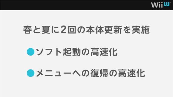 Wii Uシステムアップデートスケジュール