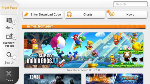 Wii U Nintendo eShop EU