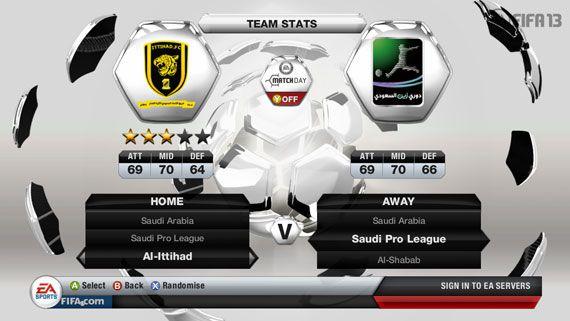 FIFA 13 Saudi Professional League