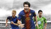 『FIFA 13』の日本版、『FIFA 13 ワールドクラスサッカー』のカバーデザインを飾るのは、メッシ、本田、長谷部の3選手