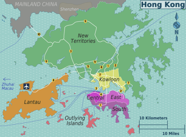 Overview map of Hong Kong