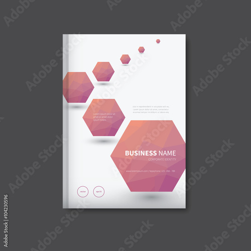 brochure design for business   vector book cover polygon in     brochure design for business   vector book cover polygon in background   representative leaflet flyer