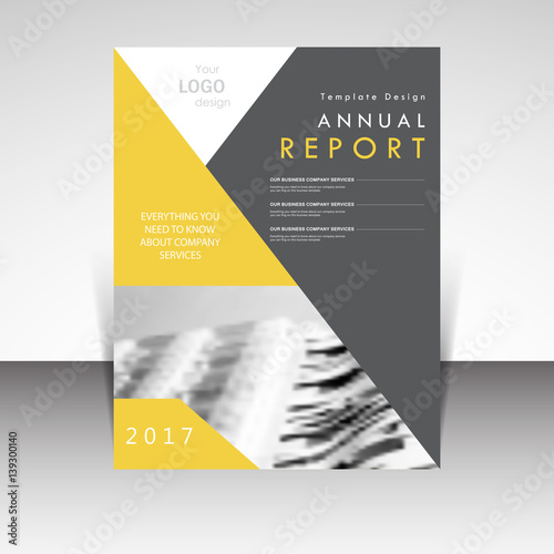 Business template  Annual report brochure design vector illustration     Annual report brochure design vector illustration  Business presentation   stationary  cover