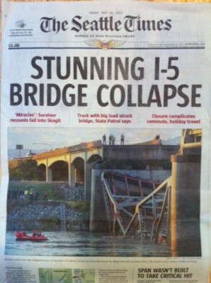 Seattle Times bridge collapse cover