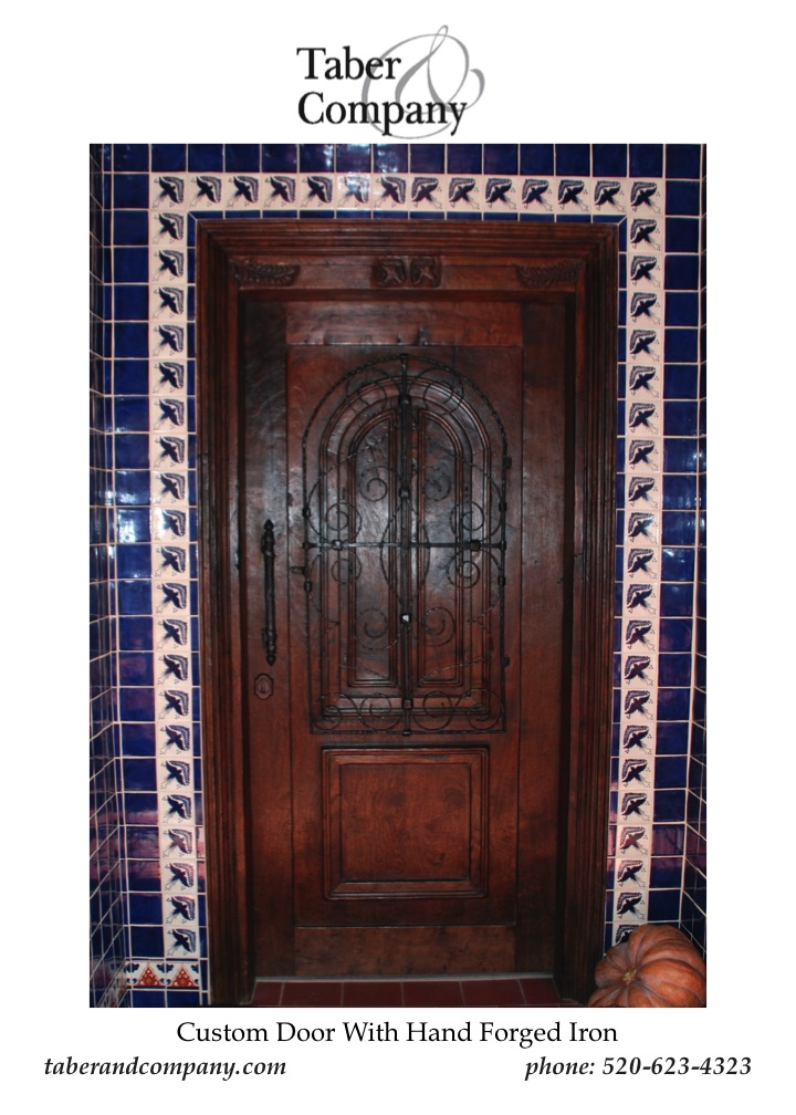 Custom wood doors taber companytaber company for Decorative entrance doors