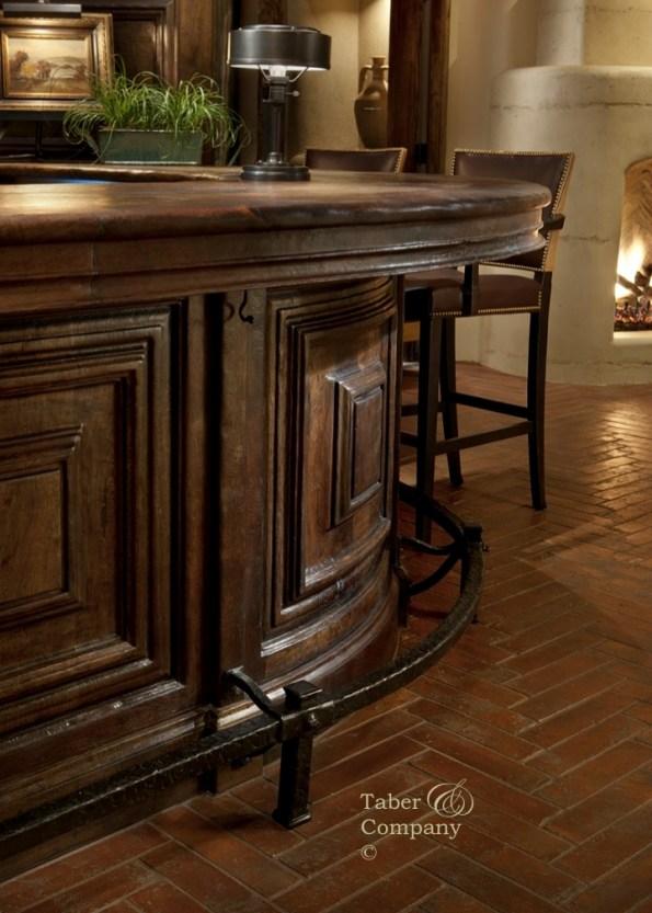 DESERT HIGHLAND GOLF CLUB Custom Wood Bar With Forged Iron By Taber & Company