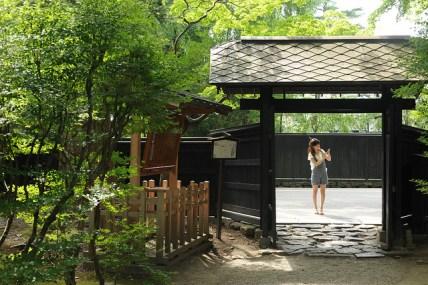 Quartier historique avec les maisons de samurai