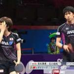 【世界卓球2015 蘇州】混合ダブルス3回戦 吉村・石川組