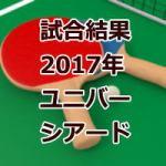 試合結果_ユニバーシアード2017