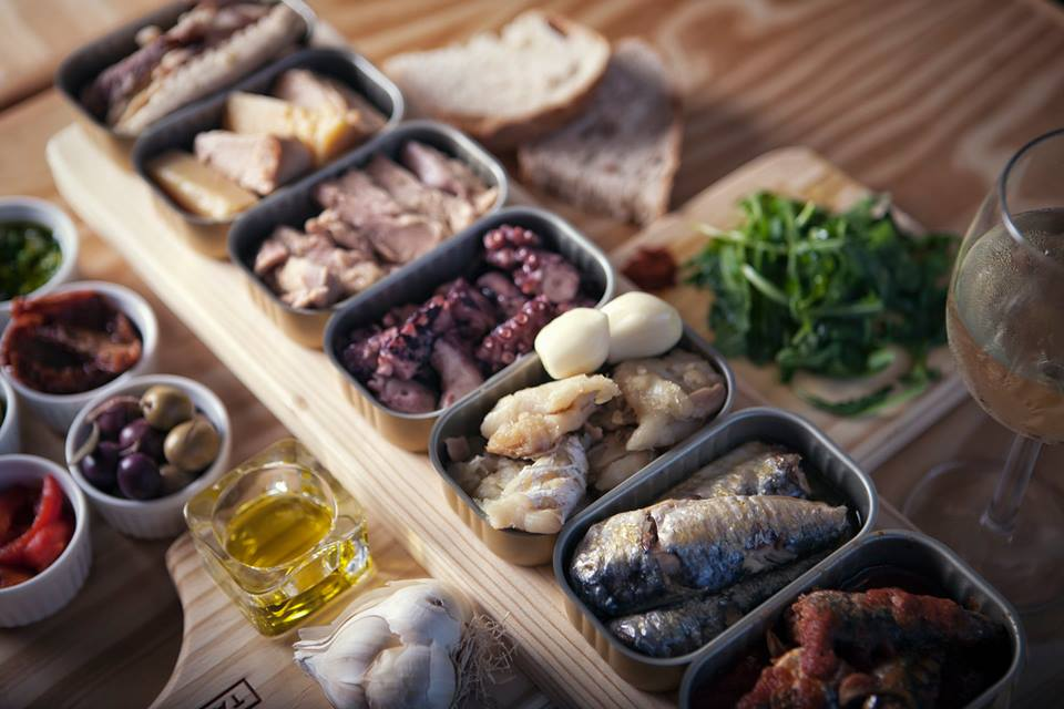 traditional canned fish from portugal - tasting menu