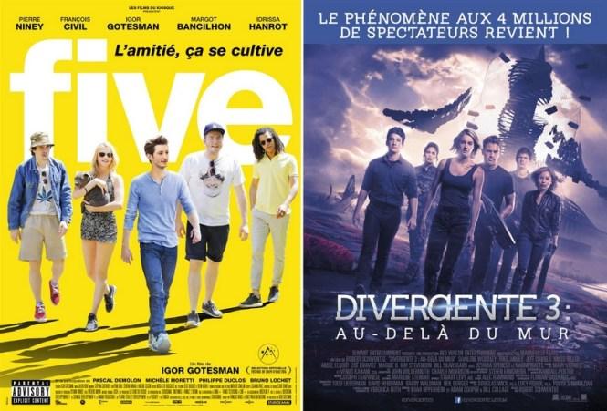 Chronique Cinéma - Five + Divergnte 3 (Allegiant) : Au dela du mur