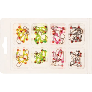 "Luck ""e"" Strike 64-Piece Painted Jig Kit (1/32 & 1/16 OZ.)"