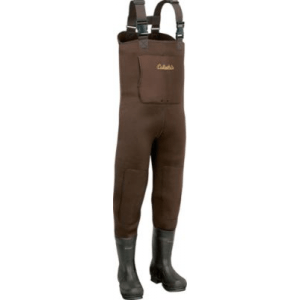 Cabela's Men's 5mm Neostretch Neoprene Chest Waders Tall - Brown (15)