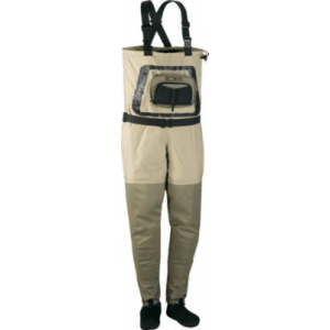Cabela's Guide Tech Stockingfoot Waders with 4MOST DRY-Plus Regular - Tan/Green (SMALL)