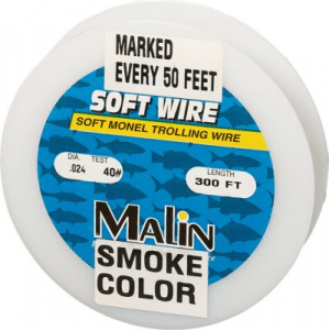 Malin Pre-Marked Monel Trolling Wire - 300-Ft. - Smoke 'Gray'