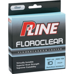 P-Line Floroclear Fishing Line 300 Yards - Green (4)