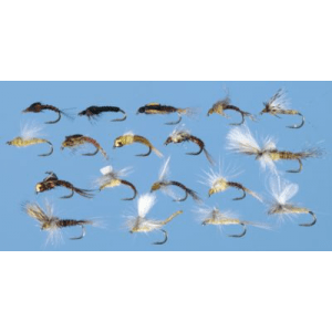 36-Piece PMD Cycle Top to Bottom Fly Assortment - Brown