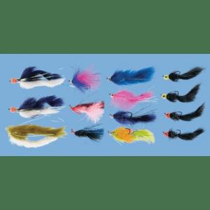 Cabela's 14-Piece Alaska King Salmon Fly Assortment - Chartreuse