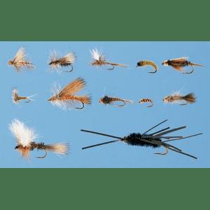 Cabela's 12 Piece Western Trout Assortment - Peacock