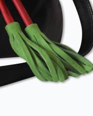 Bolso negro rojo verde piel bombonera bandolera redondo pequeño hecho a mano