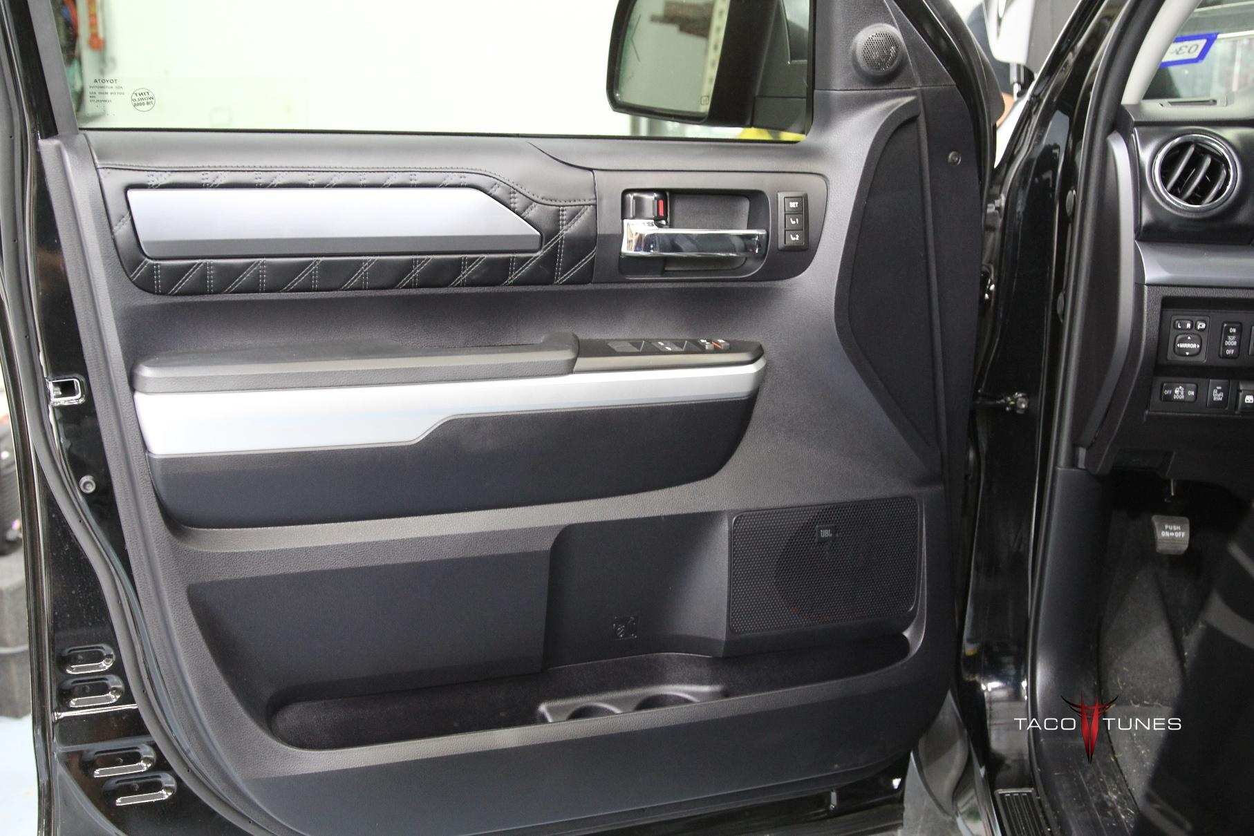 toyota tundra crewmax front door jbl equippped taco tunes toyota audio solutions. Black Bedroom Furniture Sets. Home Design Ideas