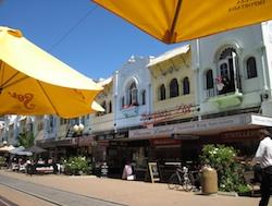 Restaurant alley in Christchurch