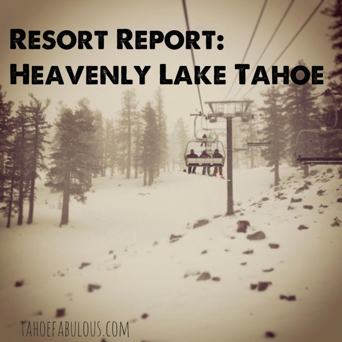 resort report heavenly lake tahoe