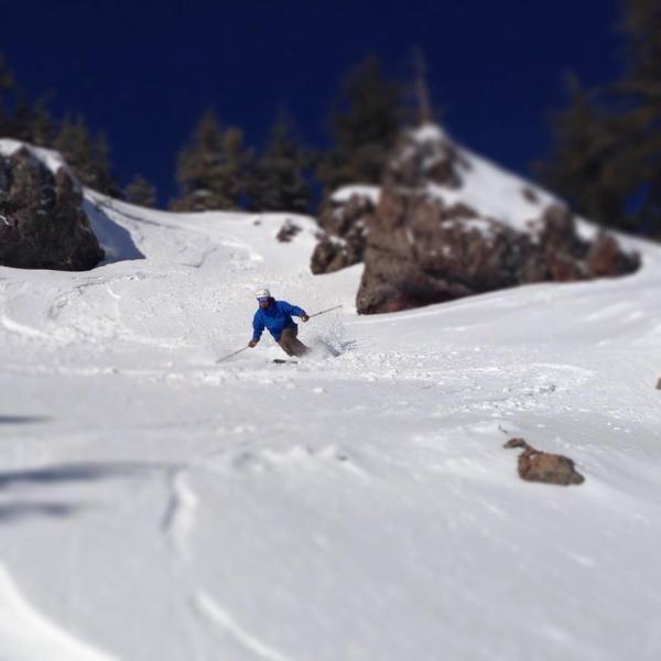 telemark skier tilt shift kirkwood