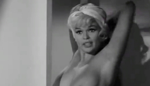 Jayne Mansfield does infamous nude scene in 1963's 'Promises Promises'