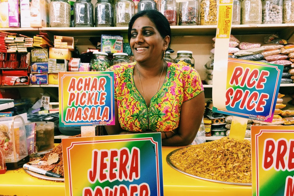 Shopping for masala at Victoria Spice Market