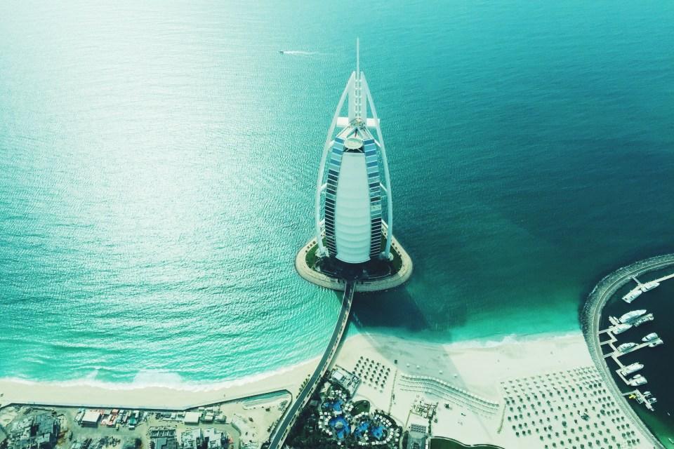 Burj Dubai from the air