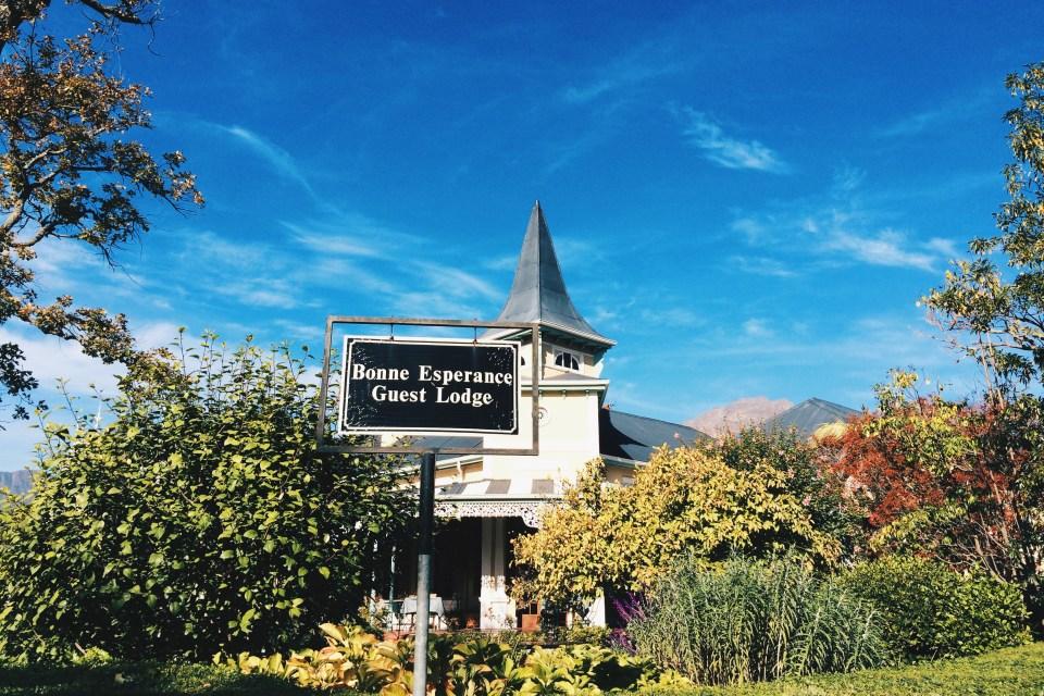 Bonne Esperance Stellenbosch street