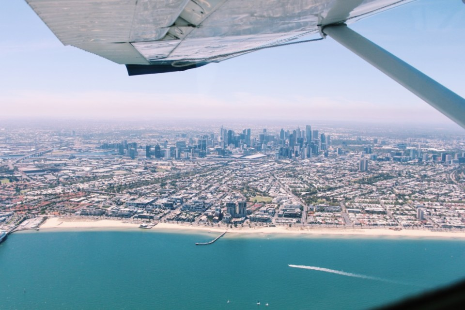 Melbourne from the sky