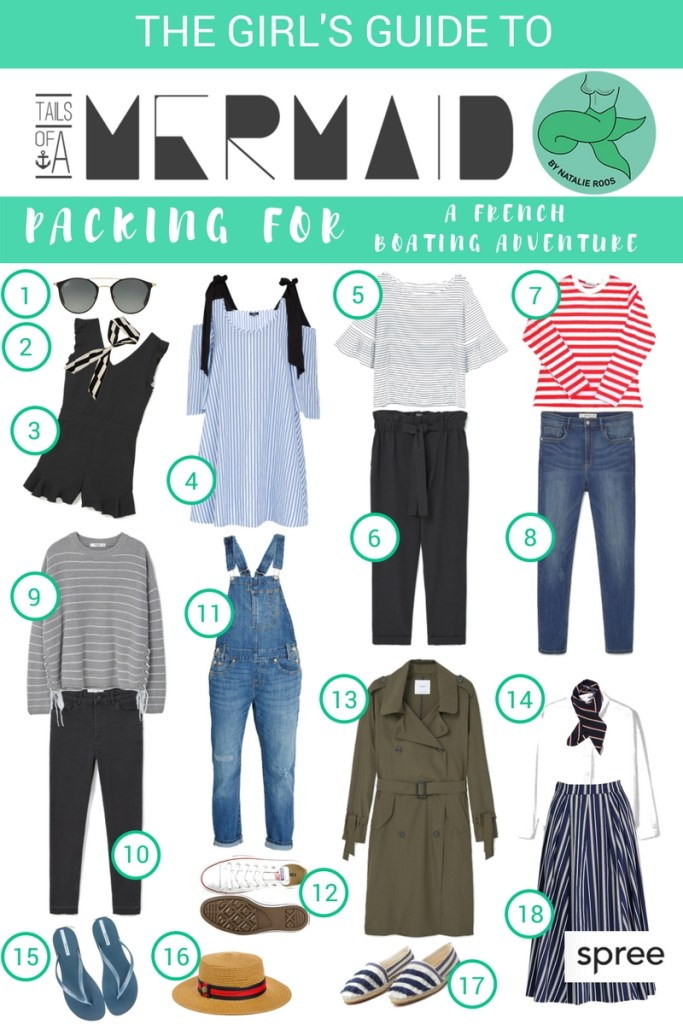THE GIRL'S GUIDE TO PACKING FOR A FRENCH BOATING ADVENTURE