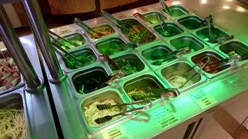 モンゴリアングリルの野菜