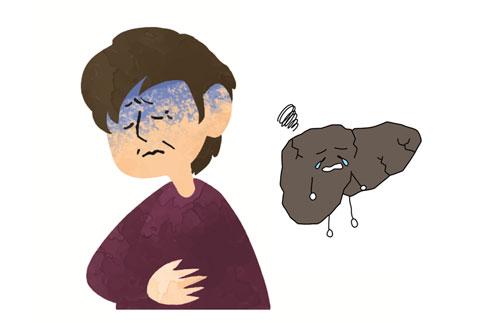 ストレスで内臓の働きが悪くなった人