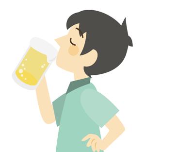 ビールを飲んでいる人