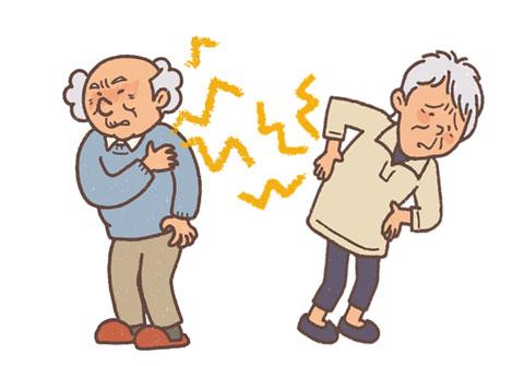 足腰が痛い高齢者