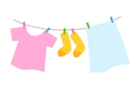 干した洗濯物