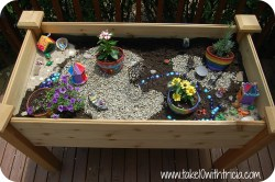 Impressive How To Create A Fairy Garden Take Tricia Fairy Garden Planter Boxes
