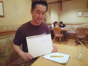 新梅田食道街 たこ梅 分店の葛原さんとコーチングです
