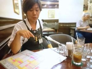 たこ梅本店は和田店長と面談です