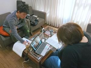 NVCの基礎オンラインセミナー受講中の北川さんと髙羽さん