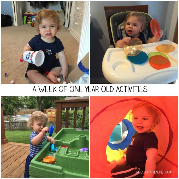A week of one year old activities